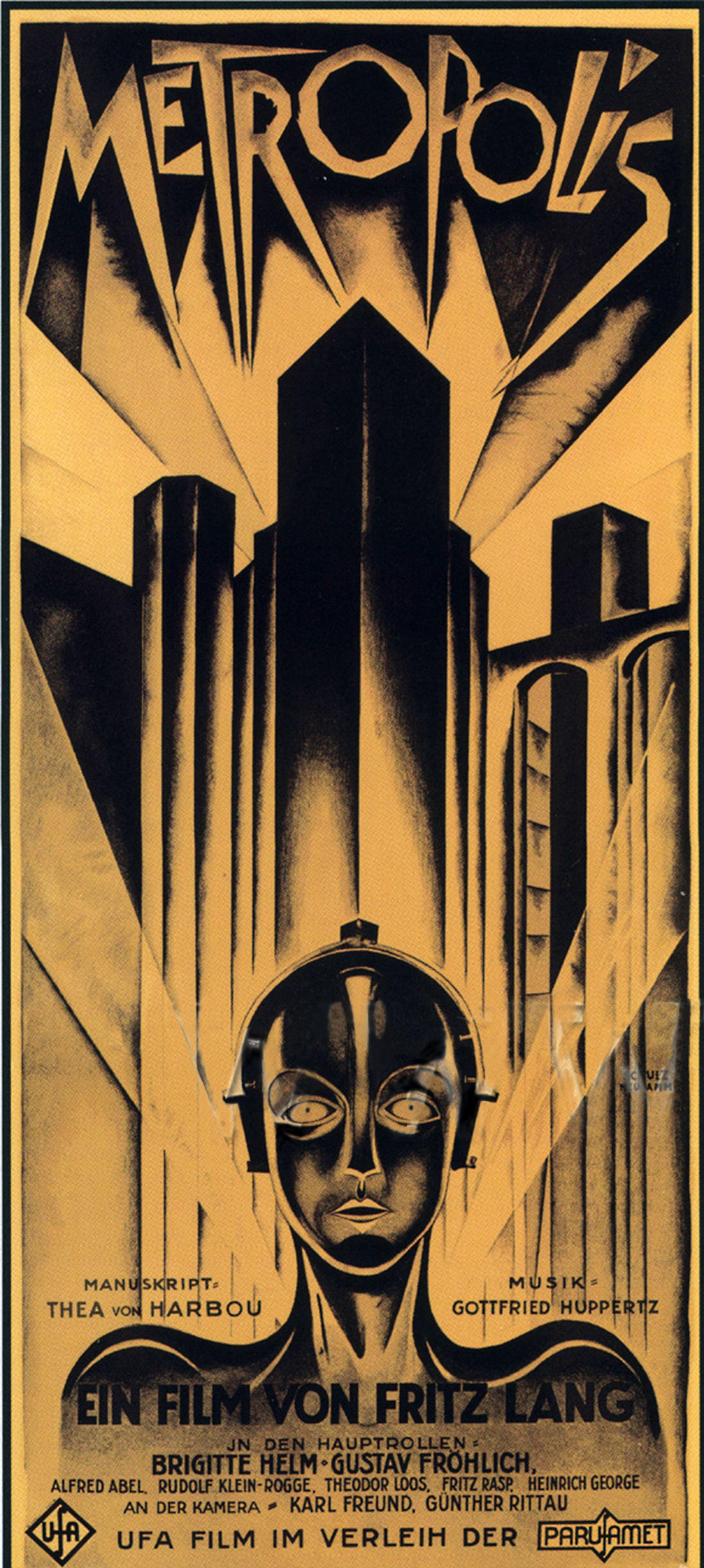 Metropolis retro movie posterretro movie poster for Classic art deco