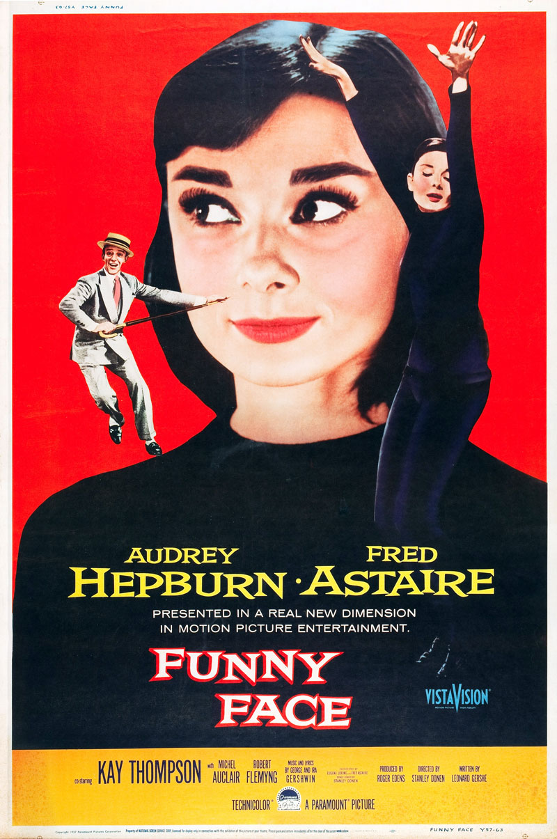 """movie review funny face Charming yet relatively generic musical, """"funny face"""" bridges the gap  as with  her other films, she plays opposite a considerably older male lead here, astaire."""