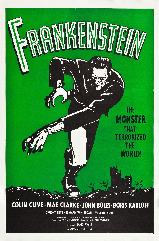 frankenstein v2 retro movie posterretro movie poster