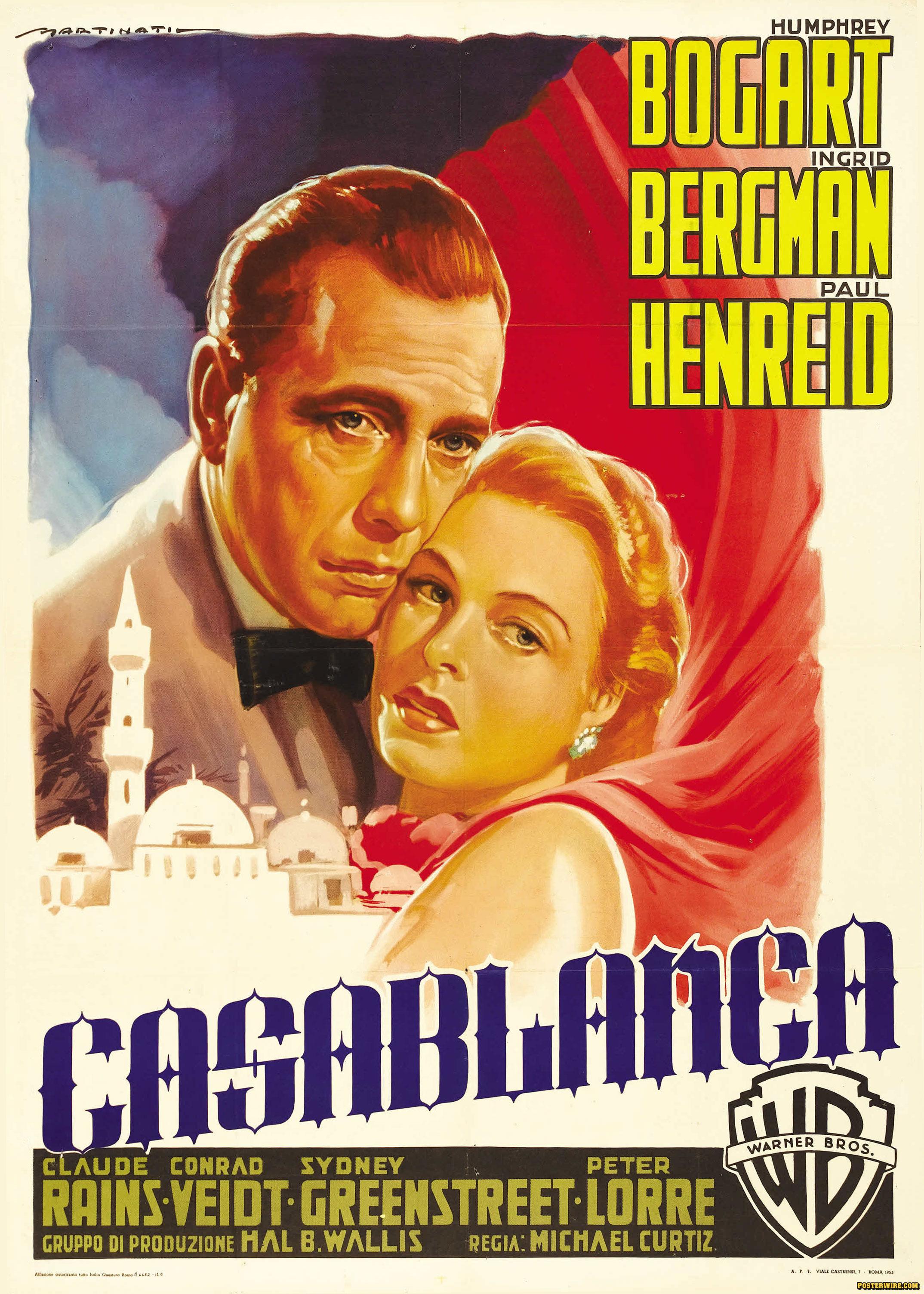 Casablanca V21 ⋆ Retro Movie PosterRetro Movie Poster