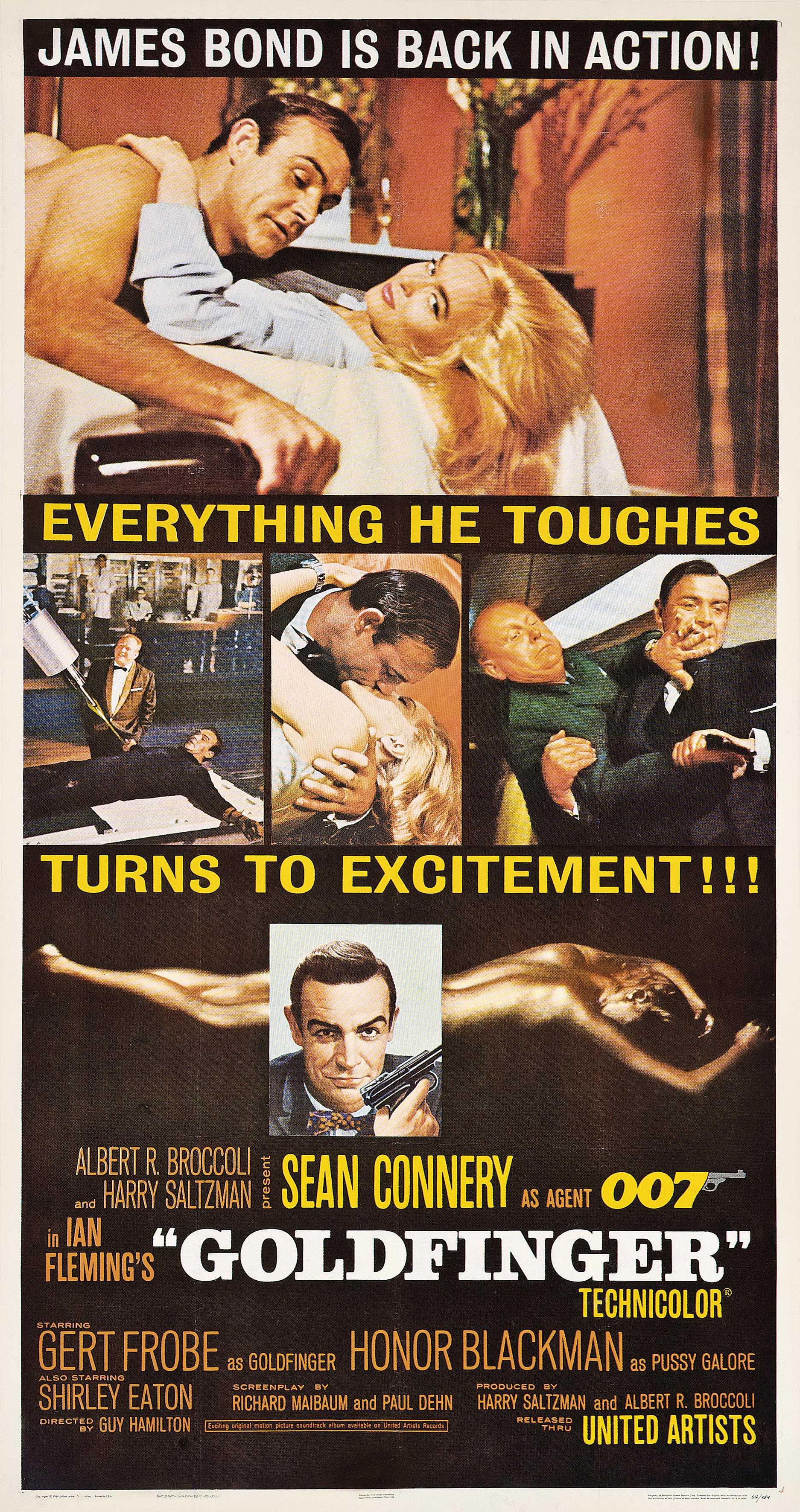 james bond goldfinger  retro  posterretro  poster