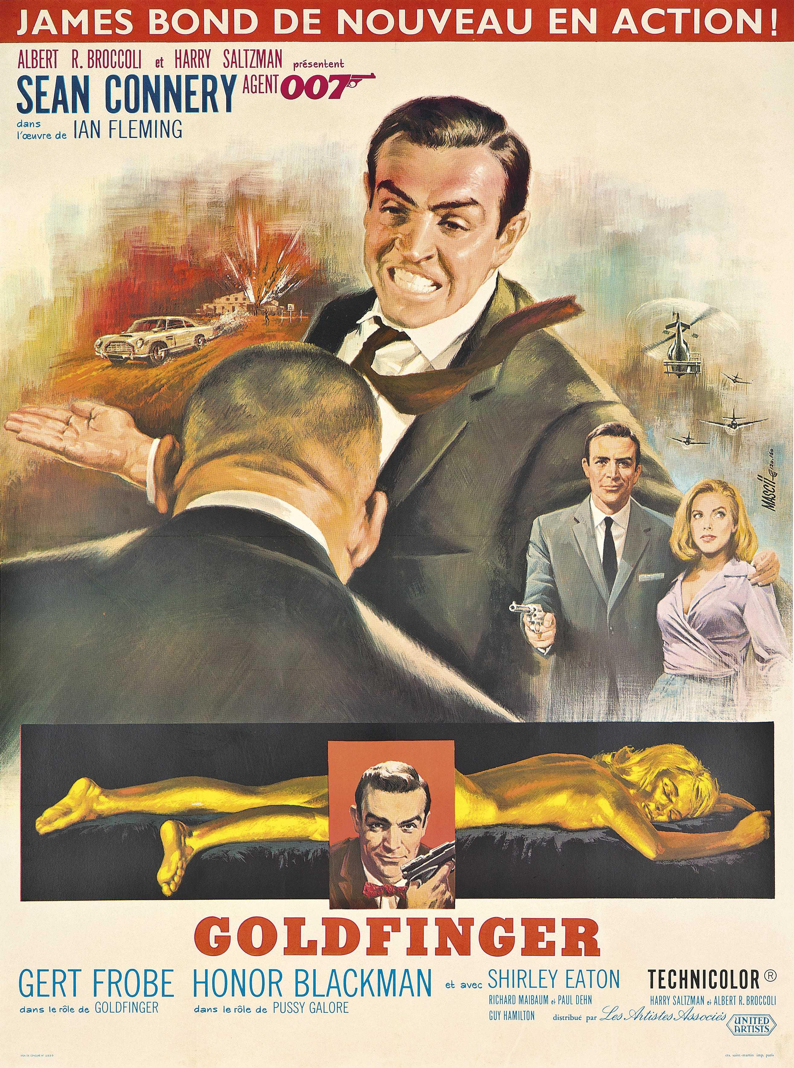 James bond goldfinger (french version) ⋆ retro movie.
