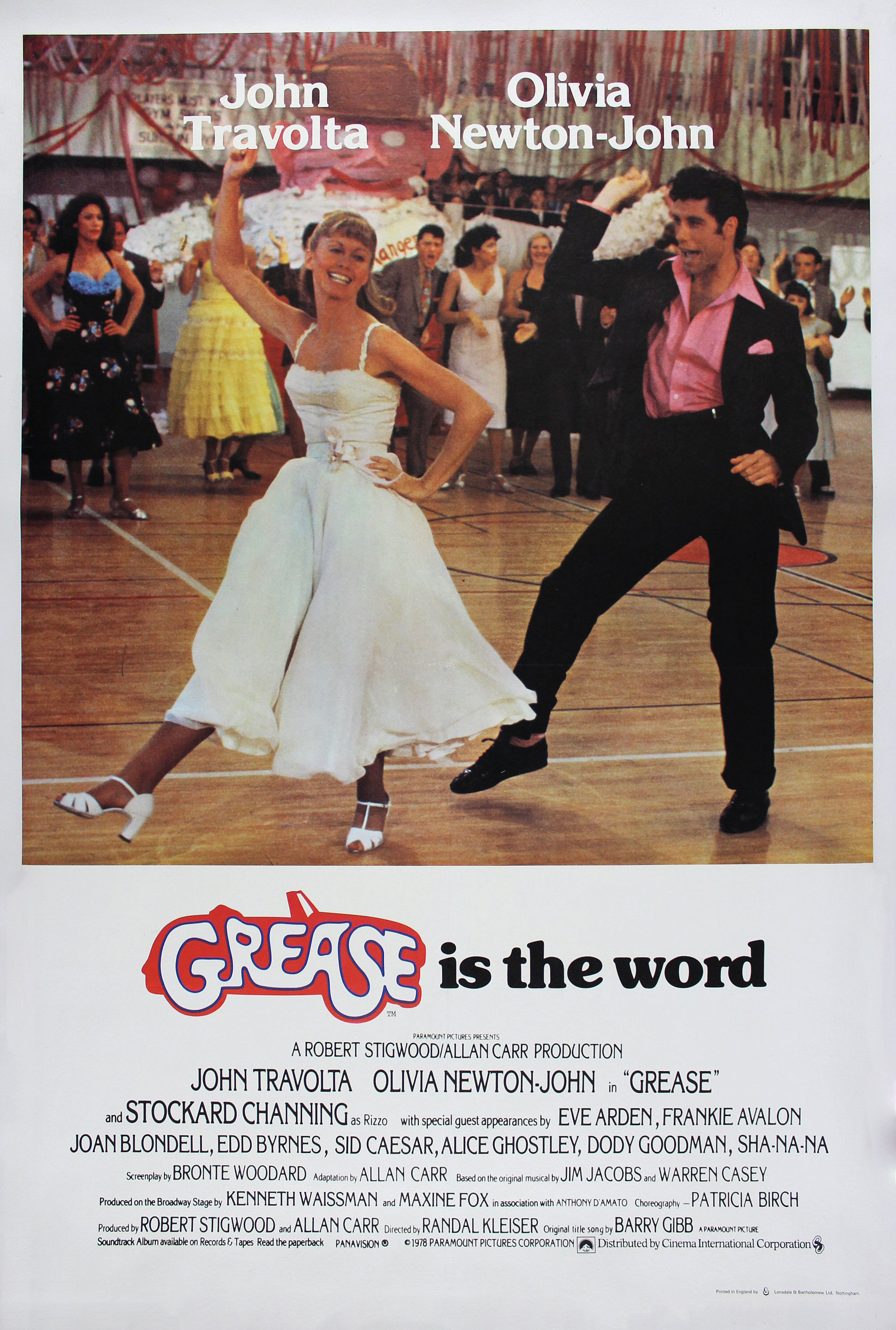 grease v2 retro movie posterretro movie poster
