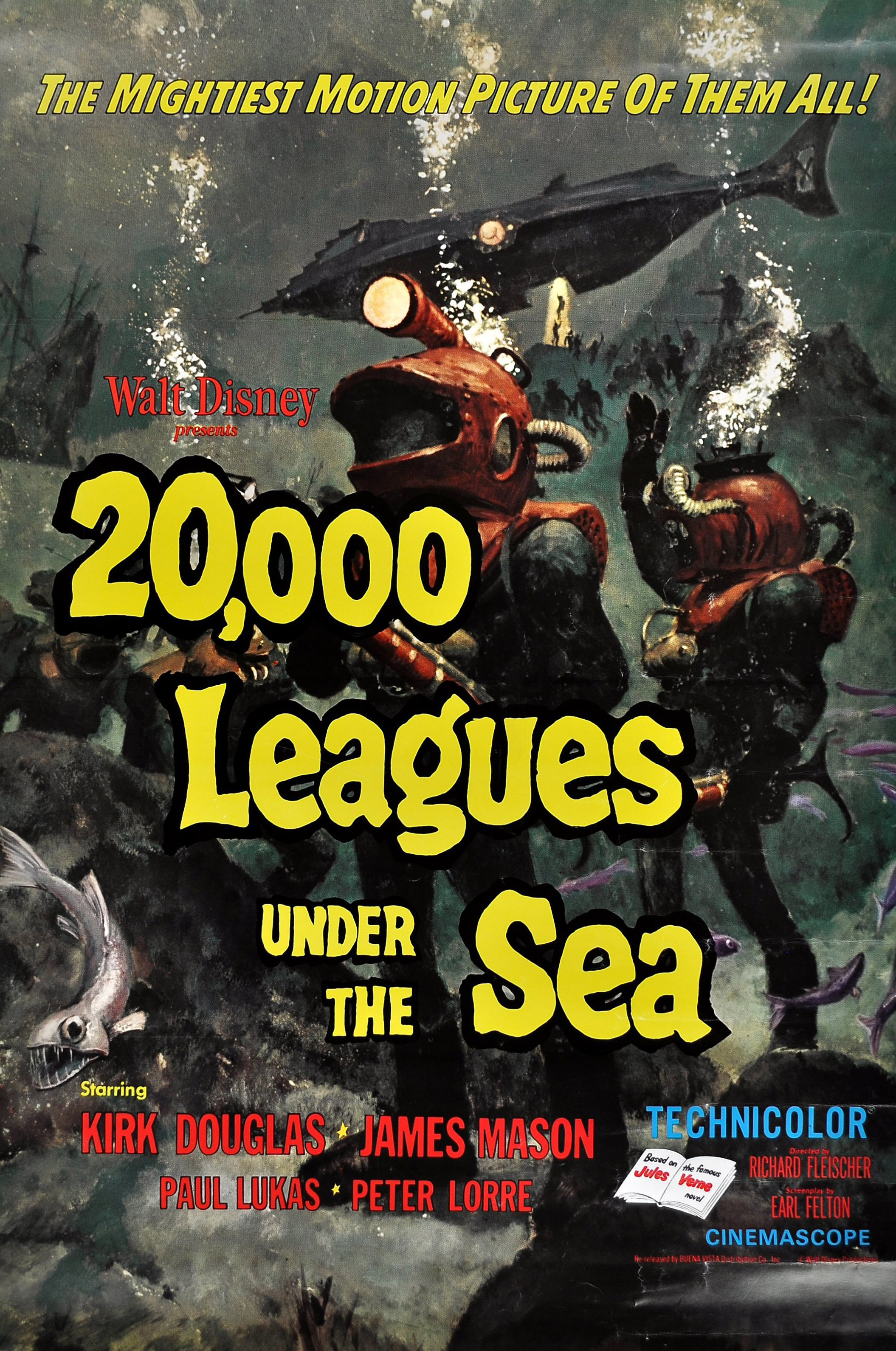 Image result for 20 000 leagues under the sea movie posters